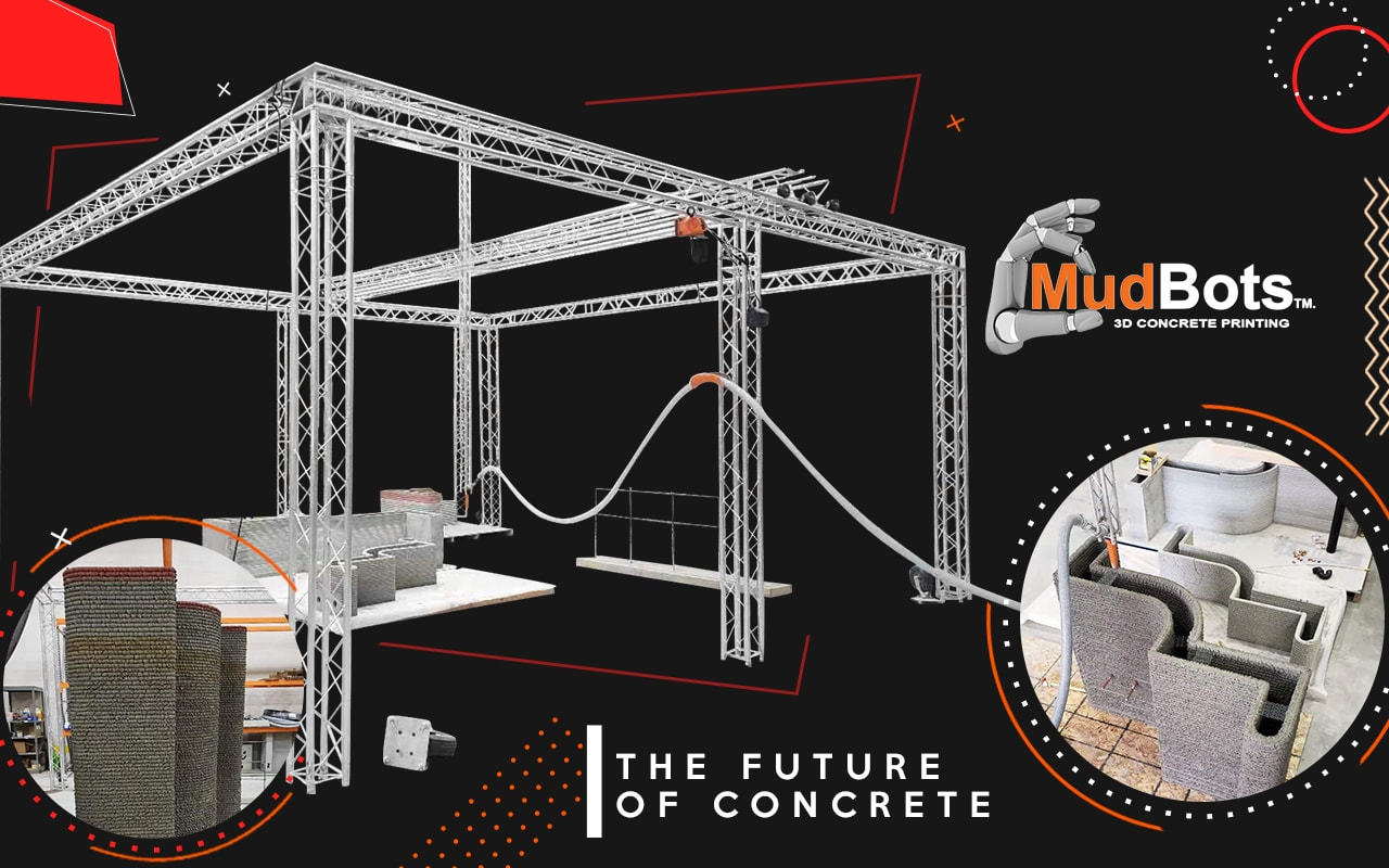 3D Concrete House Printer by Mudbots