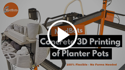 mudbots in action printing decorative planter box using printer model 664 youtube thumbnail art with play button