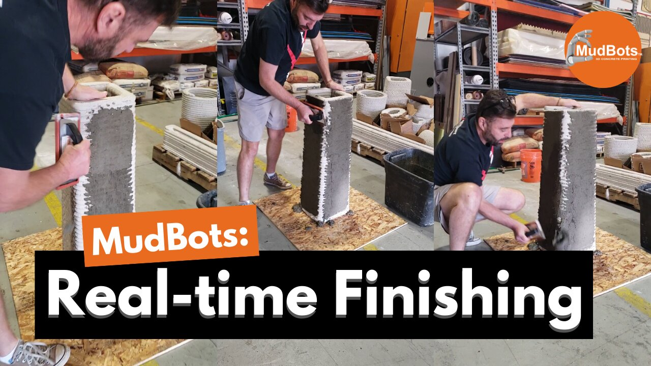 Real-Time Finishing Through the Use of 3D Concrete Printer