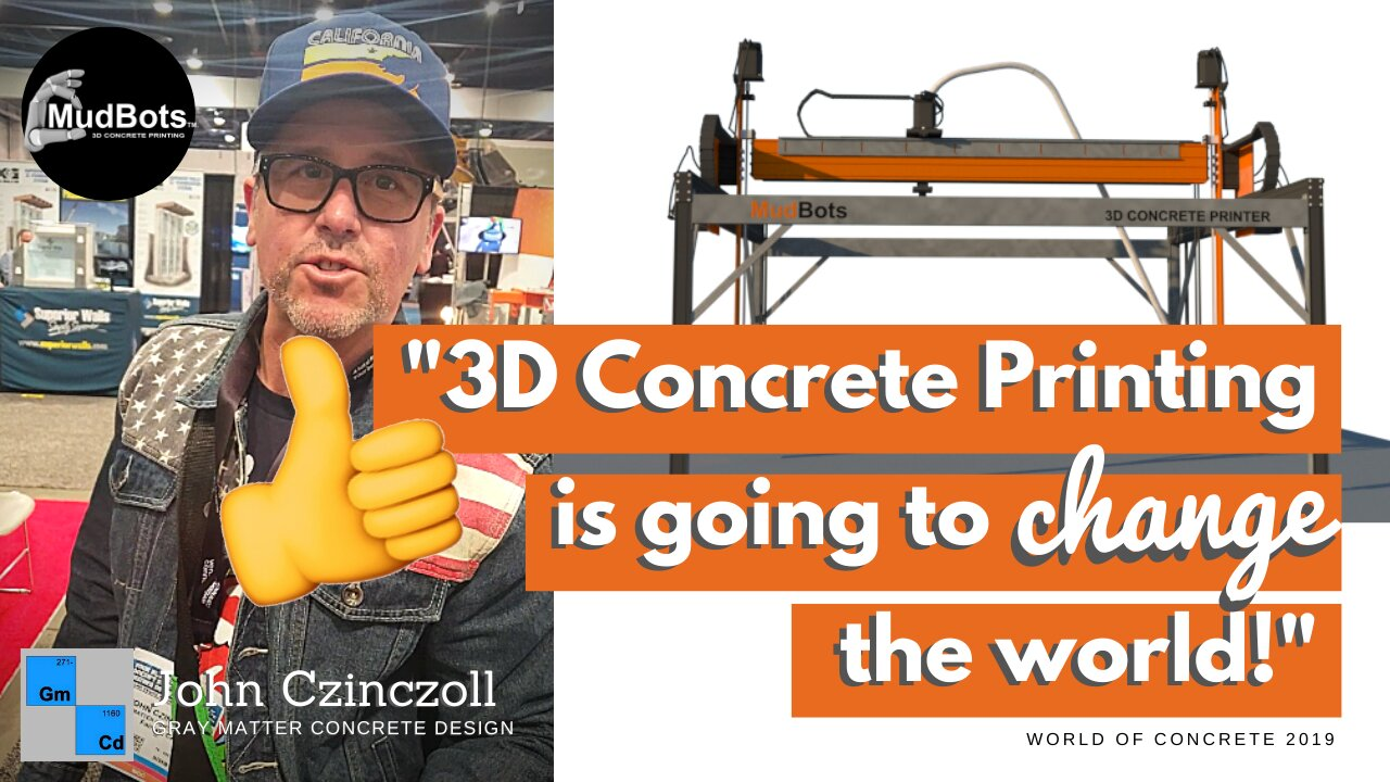 'It's just the future!' John Czinczoll of Gray Matter Concrete Design tells us how 3D Concrete Printer is going to change the world - one industry at a time!