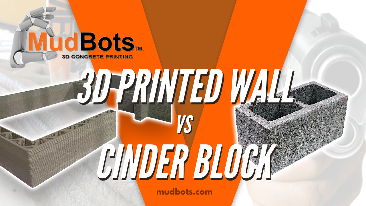 3D Printed Wall vs Cinder Block