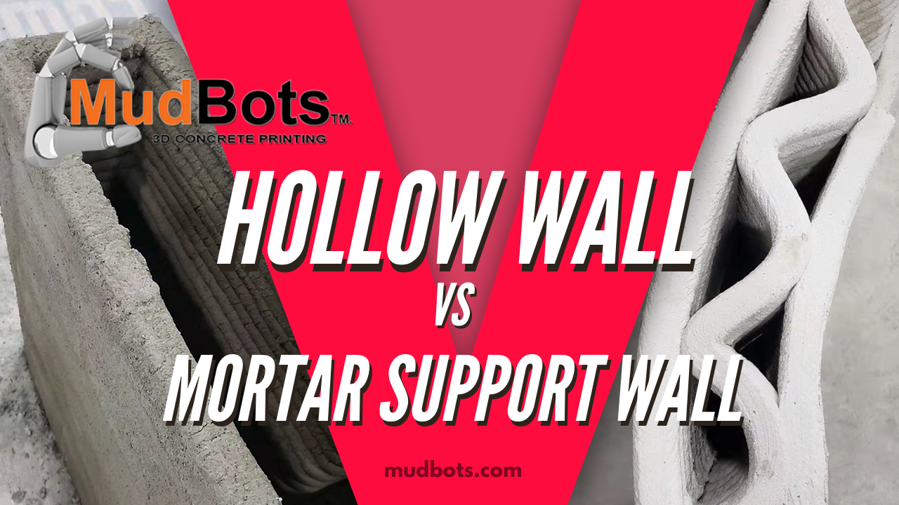Hollow Walls vs Mortar Support Walls