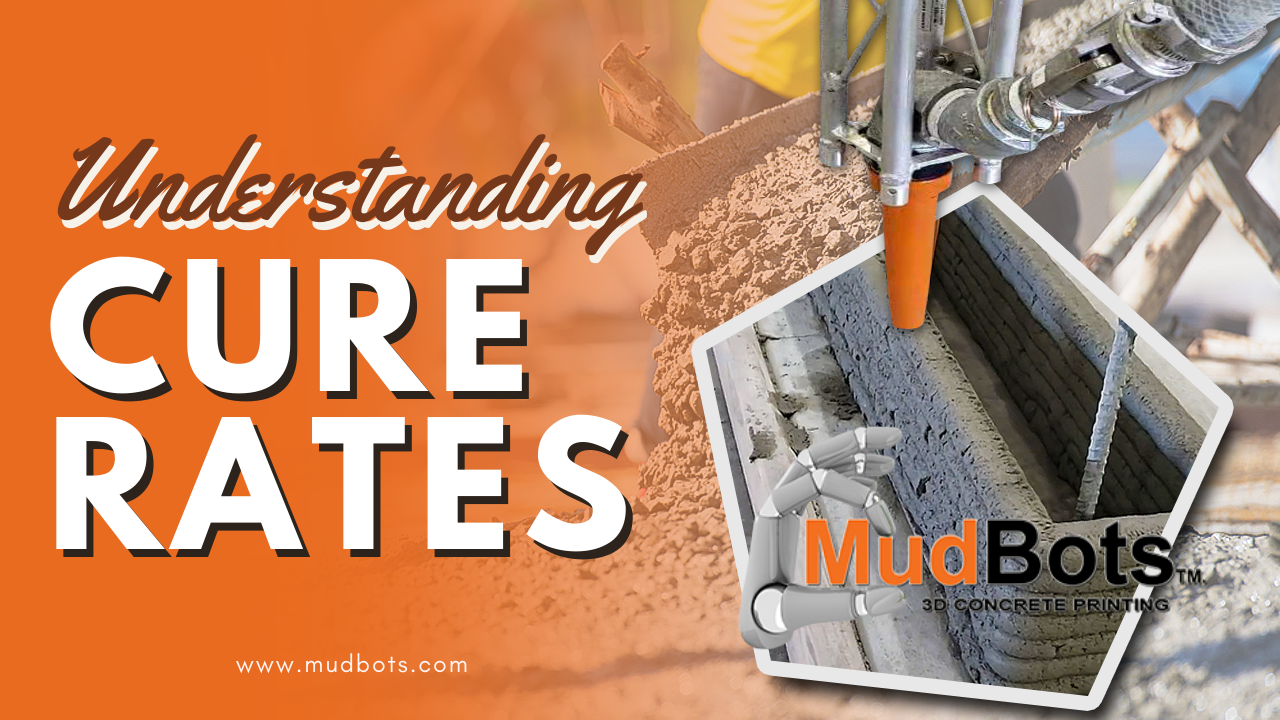 Concrete curing is the process of maintaining adequate moisture in concrete. Find out how understanding cure rates can help in printing a more stable foundation and give it more tensile strength in order to support tall walls and other structures.