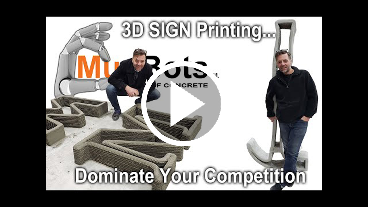 3D Concrete Printer for Sign Companies