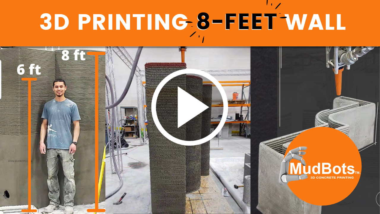 Printing an 8 Feet Wall - The Mudbots' Way!