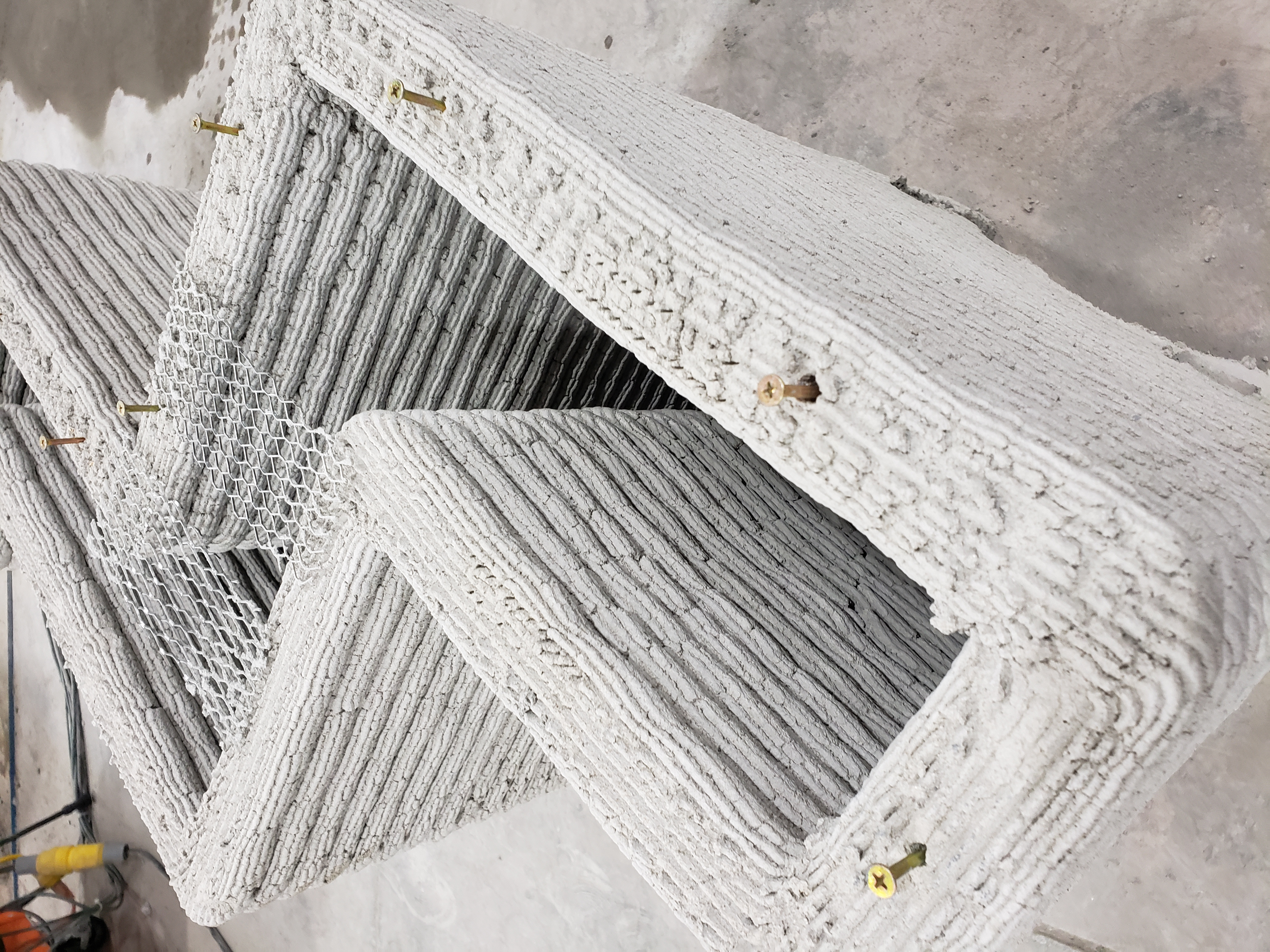 Zigzag walls and other designs are possible with 3D Concrete Printers