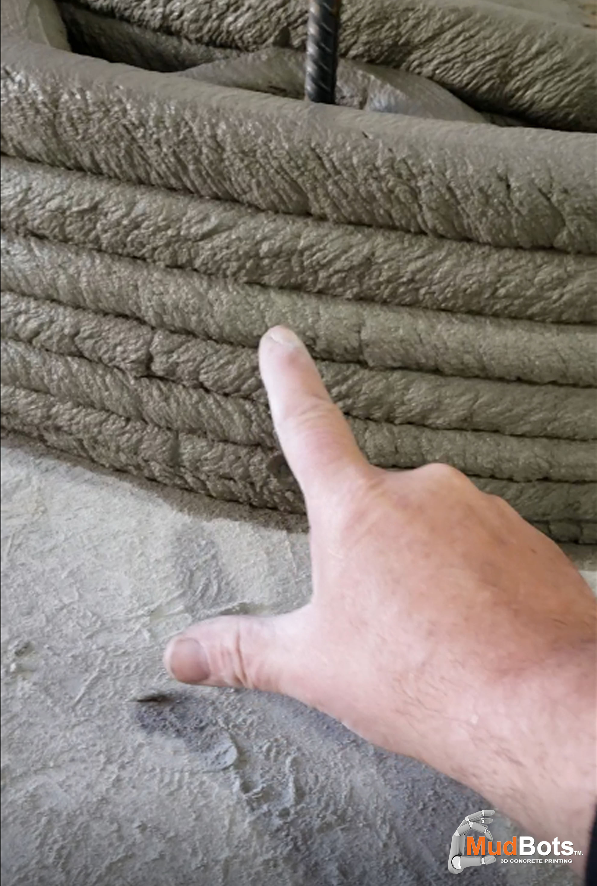 Our 3D concrete printers are capable of printing around rebar for stronger compressive and tensile strength when needed for bearing walls and retainers.