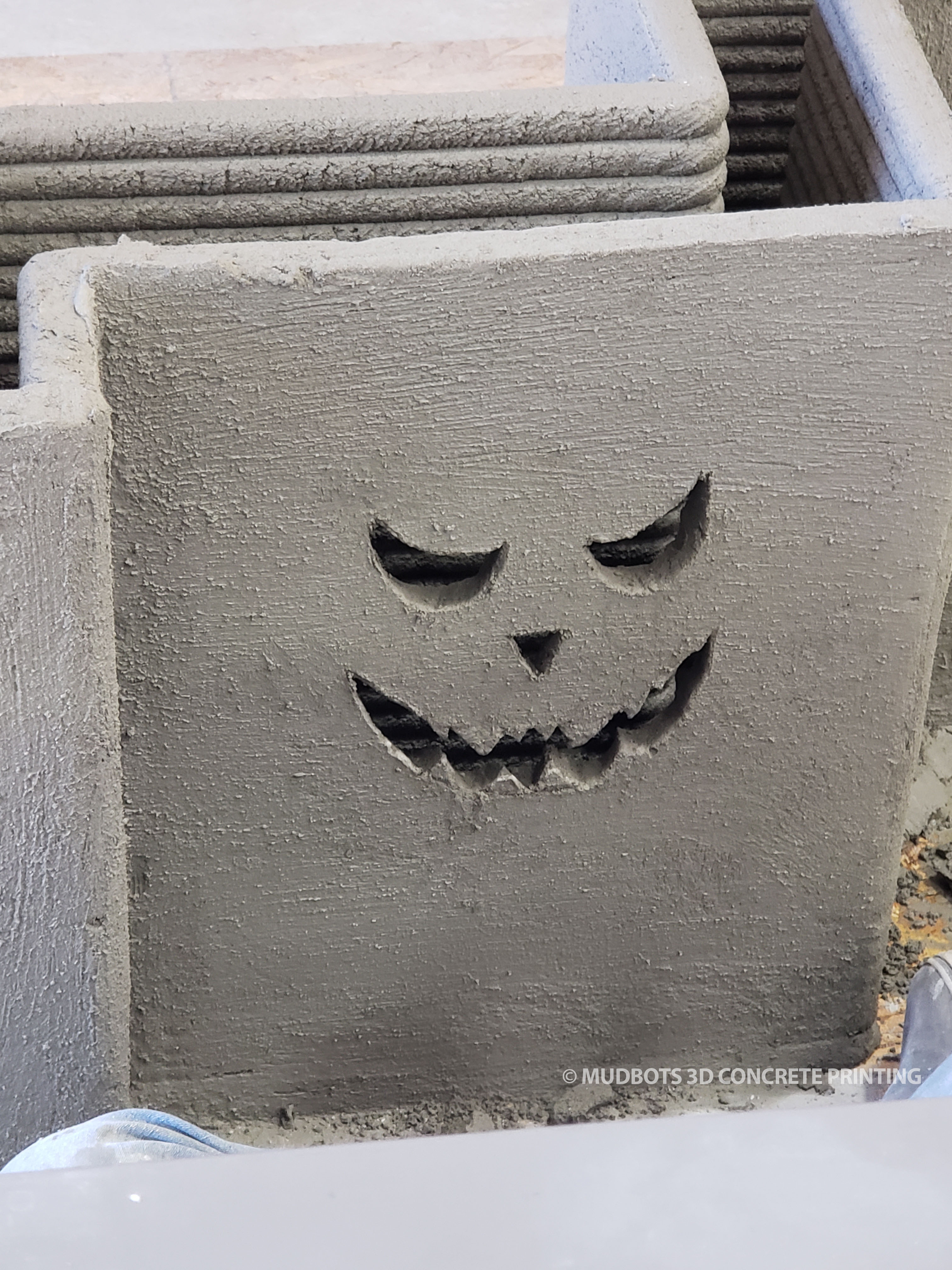 This is how we celebrate Halloween here at MudBots! The design flexibility of a concrete printed structures is like nothing you have seen before.