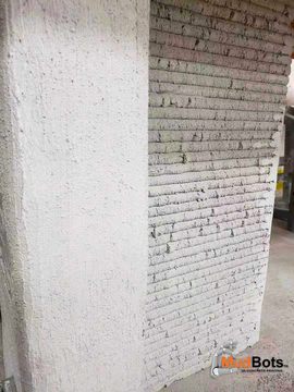 Finishing vs No Finishing on 3D Printed Concrete Wall