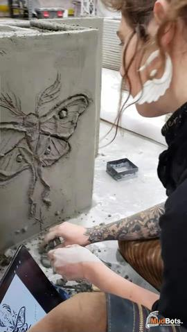Beautiful Art and 3D Concrete Printing